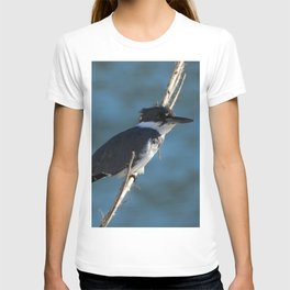 Male Belted Kingfisher T-shirt