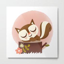 Sleeping Squrrel - Cute Animals Metal Print
