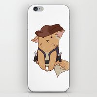 pomeranian iPhone & iPod Skins featuring Pomeranian sheriff by Wafflesdrawsthings