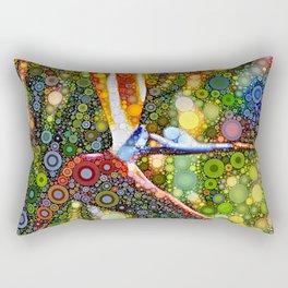 Dotty Bird of Paradise Rectangular Pillow