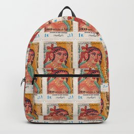 Iran 1971  - Harp Player Lady Stamp Backpack