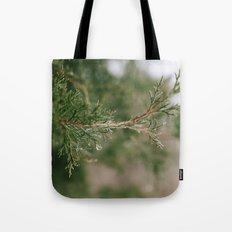 A Winter Water Drop Tote Bag