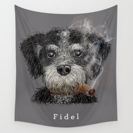 Fidel - The Havanese is the national dog of Cuba Wall Tapestry