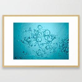 Water Background Framed Art Print