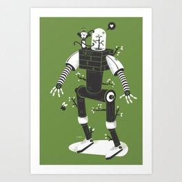La herbe ex machina Art Print