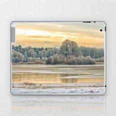 Walk on the winter lake Laptop & iPad Skin