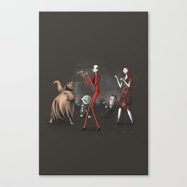 Thriller before Christmas Canvas Print