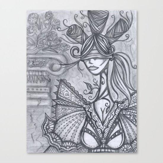 Blind Sensibility (Sketch) Canvas Print