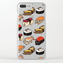 Sushi Otter Clear iPhone Case