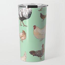 Chicken Happy (green) Travel Mug