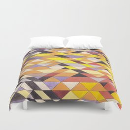Triangle Pattern No.8 Black and Yellow Duvet Cover