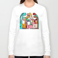 disco Long Sleeve T-shirts featuring Dino Disco by bri.b