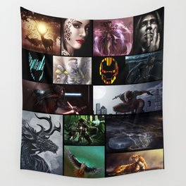 Collage Wall Tapestry