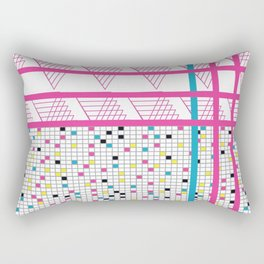 Retro 90s 80s Abstact Memphis Pattern Rectangular Pillow
