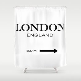London Shower Curtain