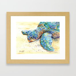 Turtle at Poipu Beach 4 Framed Art Print