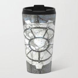 Fallout inspired welcome home, vault door, print, poster, wall art, neutral Metal Travel Mug