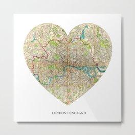 London heart map Metal Print