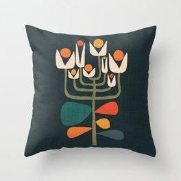 Retro botany Throw Pillow