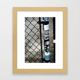 Sticker Graffiti Pole Framed Art Print