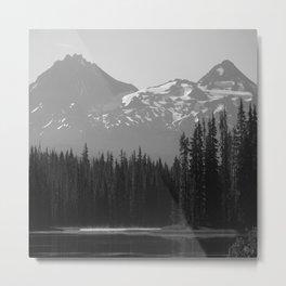 Lake Mist Metal Print