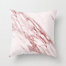 Alabaster Rosa Throw Pillow