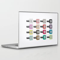 nail polish Laptop & iPad Skins featuring Nail Polish-holic by uzualsunday