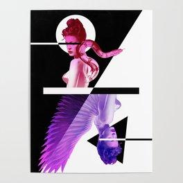 Good & Evil Playin Card Poster