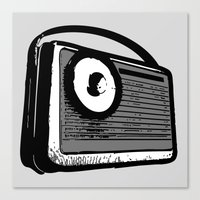 transistor Canvas Prints featuring TRANSISTOR RADIO PORTABLE by Sofia Youshi