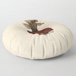 beetroot yoga Floor Pillow