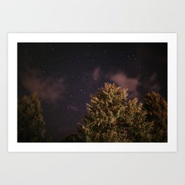 Tree top with stars | Colourful Travel Photography | Schwarzwald, Germany (Europe) Art Print