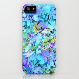 Sky Blue Poppies iPhone Case