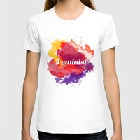 feminism T-shirts featuring Feminism Watercolor by Pia Spieler