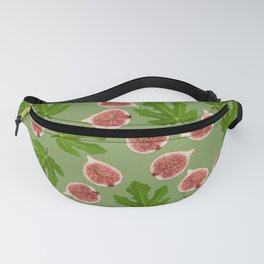 Figs and Fig Leaves green Fanny Pack
