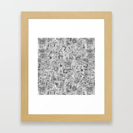 power tools black white Framed Art Print