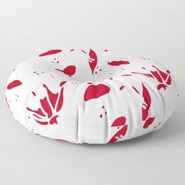 winter floral white Floor Pillow