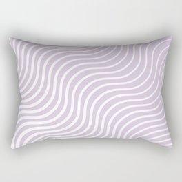 Whiskers Light Purple & White #713 Rectangular Pillow