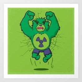 The Incredibear Hulk Art Print