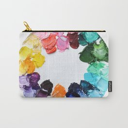 Color Wheel Polka Daubs Carry-All Pouch