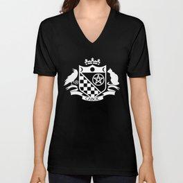 Cabot Crest Hermetic White/Black Unisex V-Neck