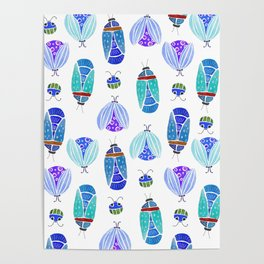 Bugs in Blue Poster