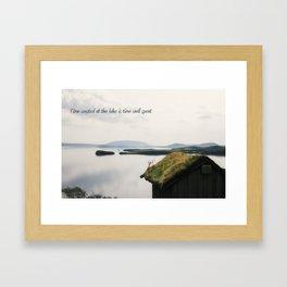 Time Spent at The Lake Framed Art Print