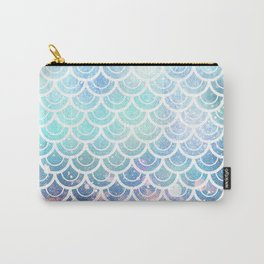 Mermaid Scales Turquoise Pink Sunset Carry-All Pouch