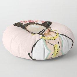 Frida on Soft Pink Floor Pillow