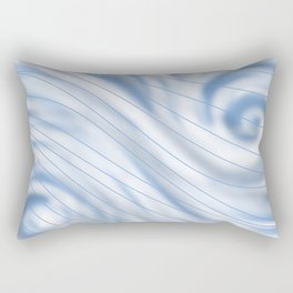 Blue Stripe on Blue Swirl Rectangular Pillow