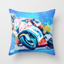 Superbike Racing Throw Pillow