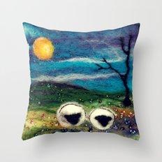 Highland Sheep Throw Pillow