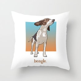 Beagle. Throw Pillow