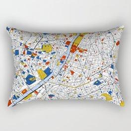 Paris Mondrian Map Art Rectangular Pillow