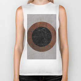 Concrete, Rusted Iron, and Black Marble Abstract Biker Tank